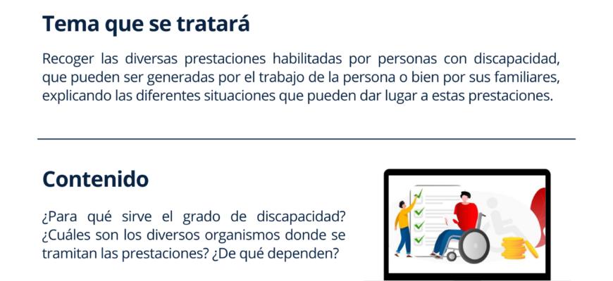 """Inscripción a la charla """"Prestaciones Económicas vinculadas a la discapacidad"""""""